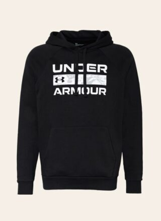 Under Armour Ua Rival Fleece Box Hoodie Herren, Schwarz