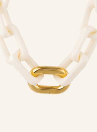 VANESSA BARONI Squared Halskette Damen, Weiß