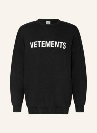 VETEMENTS Oversized-Pullover Herren, Schwarz