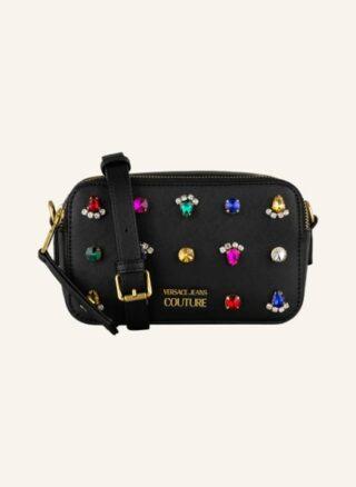 Versace Jeans Couture Jewels Studs Umhängetasche Damen, Schwarz