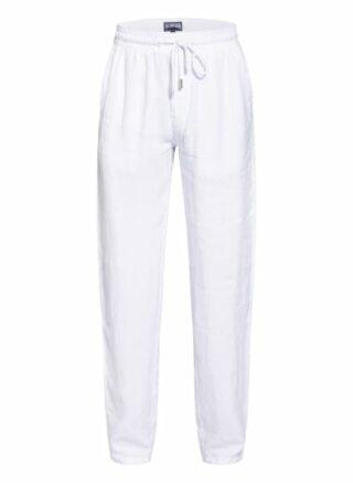Vilebrequin Pacha Leinenhose Herren, Weiß