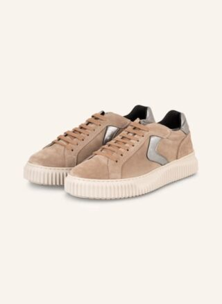 Voile blanche Lipari Plateau-Sneaker Damen, Beige