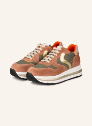 Voile blanche Maran Plus Plateau-Sneaker Damen, Pink