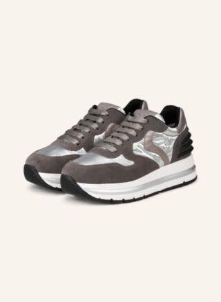 Voile blanche Maran Power Plateau-Sneaker Damen, Silber