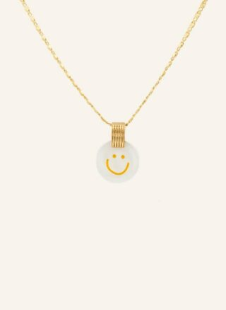 WALD Small Smilie Halskette Damen, Gold