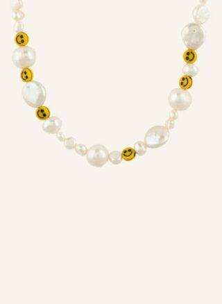 WALD Smilie Dude Halskette Damen, Gold