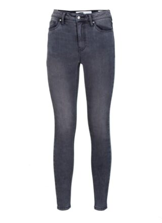 YOUNG POETS SOCIETY Ania High Waist 51214 Stone Wash Skinny Fit Skinny Jeans Damen, Grau