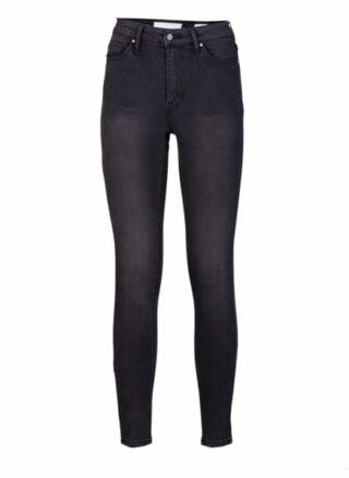 YOUNG POETS SOCIETY Ania High Waist 51214 Stone Wash Skinny Fit Skinny Jeans Damen, Schwarz
