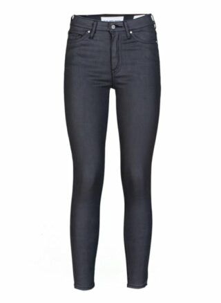 YOUNG POETS SOCIETY Ania High Waist 86214 Coated Slim Fit Skinny Jeans Damen, Schwarz
