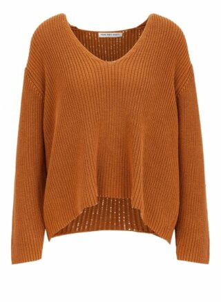 YOUNG POETS SOCIETY Bente Knit Cropped 214 Regular Fit Pullover Damen, Braun