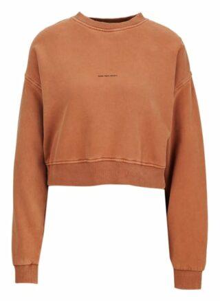 YOUNG POETS SOCIETY Bente Sweat Cropped 214 Cropped Fit Sweatshirt Damen, Braun