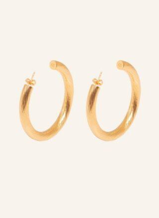ariane ernst Bold Spiral Ohrringe Damen, Gold