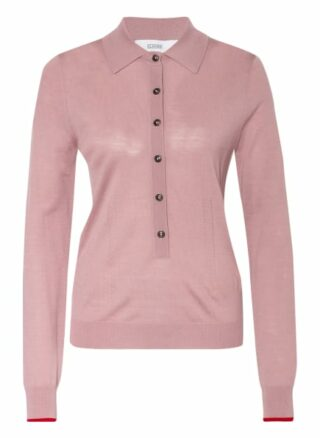closed Strick-Poloshirt Damen, Pink