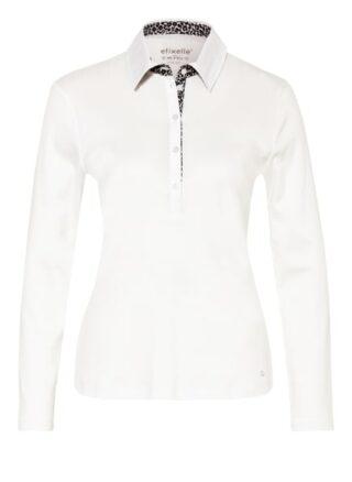 efixelle Poloshirt Damen, Weiß