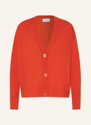 herzensangelegenheit Cashmere-Strickjacke Damen, Orange