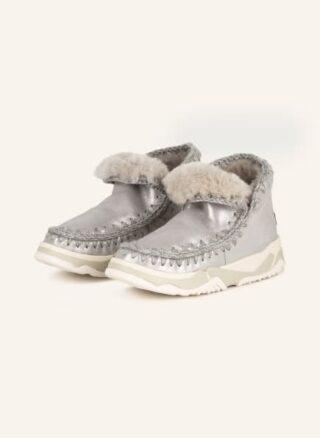 mou Eskimo Plateau-Boots Damen, Silber